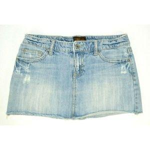 Aeropostale Micro Mini Denim Skirt
